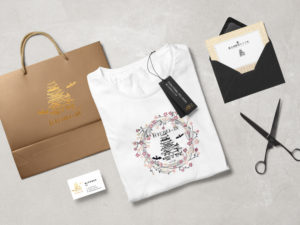 Tシャツ、バッグ、名刺、招待状
